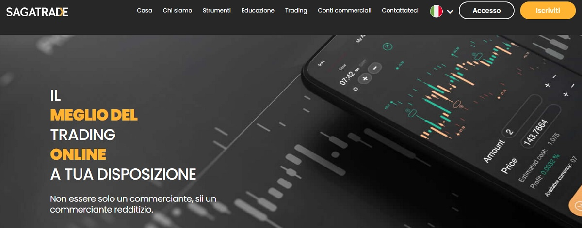 homepage Sagatrade